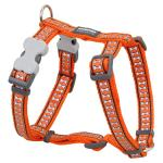 Red Dingo Reflective Orange Small Dog Harness