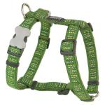 Red Dingo Lotzadotz green Large Dog Harness