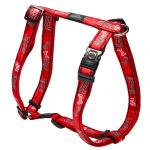 Rogz Fancy Dress Armed Response Dog Harness XLarge / Red Bones