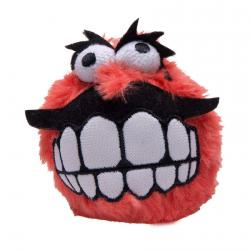 Rogz Fluffy Grinz Ball medium red