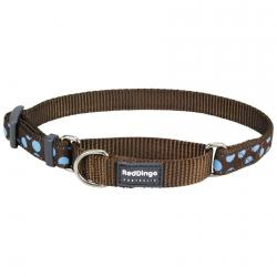 Red Dingo Blue Spots Brown Small Martingale Collar