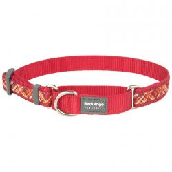 Red Dingo Flanno Red Small Martingale Collar