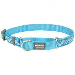 Red Dingo Flanno Turquoise Small Dog Collar