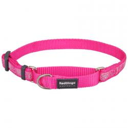 Red Dingo Paw Impressions Hot Pink Small Martingale Collar