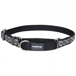 Red Dingo Snake Eyes Black Small Martingale Collar