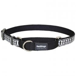 Red Dingo Reflective Black Small Martingale Collar