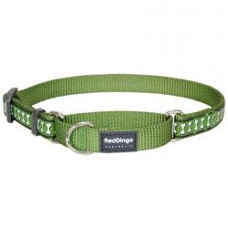 Red Dingo Reflective Green Small Martingale Collar