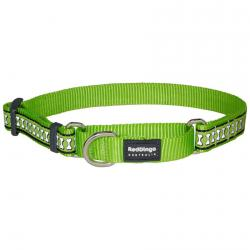 Red Dingo Reflective Lime Small Martingale Collar