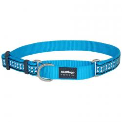 Red Dingo Reflective Turquoise Small Martingale Collar