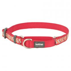 Red Dingo Reflective Ziggy Red Small Martingale Collar