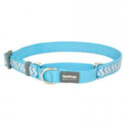 Red Dingo Reflective Ziggy Turquoise Small Martingale Collar