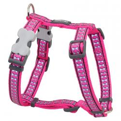 Red Dingo Reflective Hot Pink XLarge Dog Harness