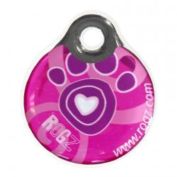 Rogz id-Tag Pink Paws 34mm
