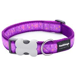 Red Dingo Butterfly Purple Small Dog Collar