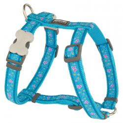 Red Dingo Butterfly Turquoise Medium Dog Harness