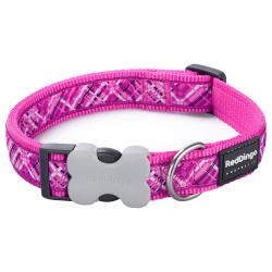 Red Dingo Flanno Hot Pink Large Dog Collar