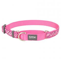 Red Dingo Flanno Hot Pink Large Martingale Collar