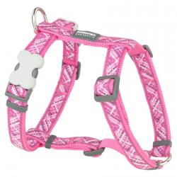Red Dingo Flanno Hot Pink Small Dog Harness