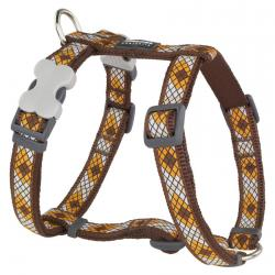 Red Dingo Monty Brown XS Dog Harness