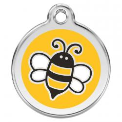 Red Dingo Dog ID Tag Bumble Bee Yellow Large
