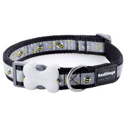 Red Dingo Bumble Bee Black Medium Dog Collar