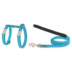 Red Dingo Butterfly turquoise Cat Harness + Lead 120 cm