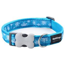Red Dingo Snowflake Turquoise Small Collar
