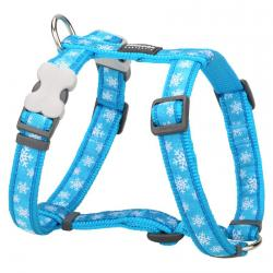 Red Dingo Snowflake Turquoise XS Dog Harness
