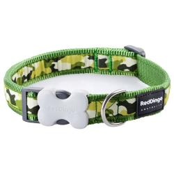 Red Dingo Camouflage Green Small Dog Collar