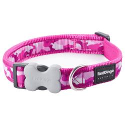 Red Dingo Camouflage Hot Pink Small Dog Collar