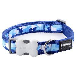 Red Dingo Camouflage Dark Blue Medium Dog Collar
