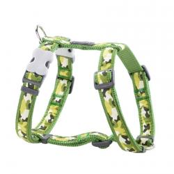 Red Dingo Camouflage Green Small Dog Harness