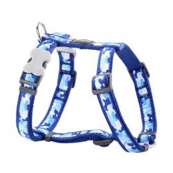 Red Dingo Camouflage Dark Blue Small Dog Harness