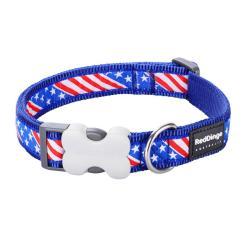 Red Dingo US Flag Dark Blue XS Dog Collar