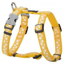 Red Dingo White Spots Yellow Medium Dog Harness