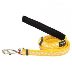 Red Dingo White Spots Yellow dog lead 100-180 cm Small