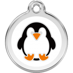 Red Dingo Dog ID Tag Penguin Medium