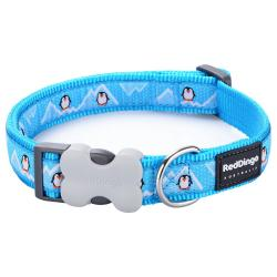 Red Dingo Penguin Turquoise XS Dog Collar