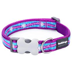 Red Dingo Unicorn Purple Medium Dog Collar