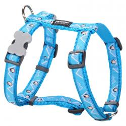 Red Dingo Penguin Turquoise Small Dog Harness