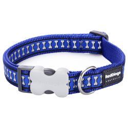 Red Dingo Reflective Dark Blue Small Dog Collar