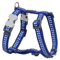 Red Dingo Reflective Dark Blue Small Dog Harness