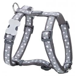Red Dingo Stars Grey XS Dog Harness