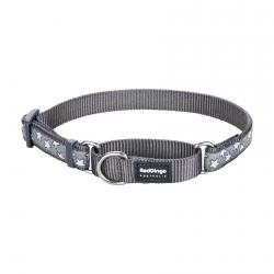 Red Dingo Stars Grey Medium Martingale Collar