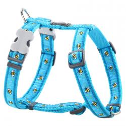 Red Dingo Bumble Bee Turquoise Large Dog Harness