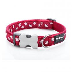 Red Dingo Stars Red Medium Dog Collar