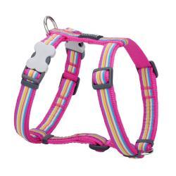 Red Dingo Horizontal Stripes Hot Pink XS Dog Harness