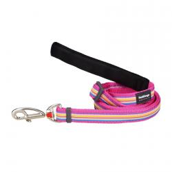 Red Dingo Horizontal Stripes Hot Pink Guinzaglio 100-180 cm Small