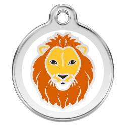 Red Dingo Dog ID Tag Lion Medium