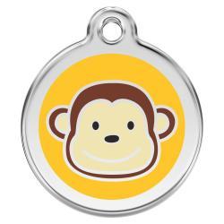 Red Dingo Dog ID Tag Monkey Medium